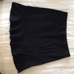 Loft black pointe knit skirt